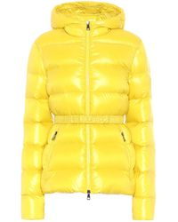 Moncler Rhin Nylon Logo Down Jacket - Yellow