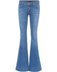 J Brand - Lovestory Low-rise Flared Jeans - Lyst