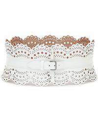 Alaïa Gürtel aus Leder - Weiß