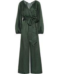 Kalita Venus Cotton And Silk Jumpsuit - Green