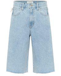 SLVRLAKE Denim High-rise Denim Shorts - Blue