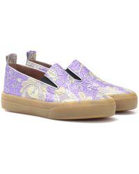 Dries Van Noten Brocade Slip-on Sneakers - Purple