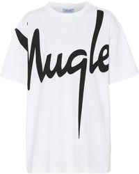 Mugler Printed Cotton T-shirt - White
