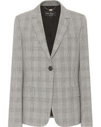 Ferragamo - Checked Wool Blazer - Lyst