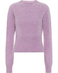 Victoria Beckham Wool Sweater - Purple