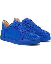 Christian Louboutin Exclusive To Mytheresa – Vieira Spikes Suede Trainers - Blue