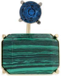 Acne Studios Einzelner Ohrring mit Kristallen - Grün
