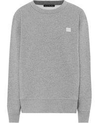 Acne Studios Sweatshirt Fairview Face aus Baumwolle - Grau