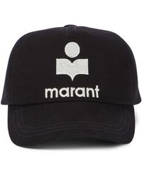 Isabel Marant Tyron Cotton Baseball Cap - Black