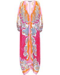 Emilio Pucci Printed Kaftan - Pink