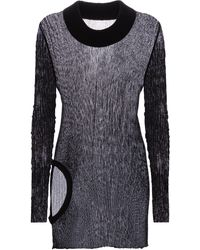 Rick Owens Ribbed-knit Longline Cotton Top - Black