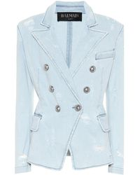 Balmain Denim Blazer - Blue