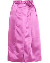 Prada Faltenrock mit Blume - Pink