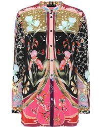 Etro Camicia a stampa in seta - Multicolore
