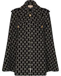Gucci Cape en laine - Noir