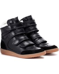 Isabel Marant High-Top-Sneakers Bilsy aus Leder - Schwarz