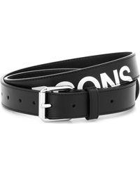 Comme des Garçons Huge Logo Leather Belt - Black