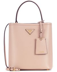 635b3a436e5b Prada Jardinera Large Canvas Shopper Bag in Black - Lyst