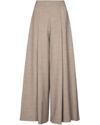 Emilia Wickstead Exclusive To Mytheresa – Pacifica Wool-blend Crêpe Wide-leg Pants - Gray