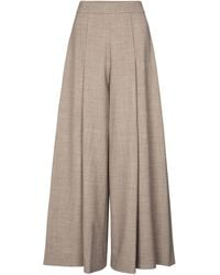 Emilia Wickstead Exclusive To Mytheresa – Pacifica Wool-blend Crêpe Wide-leg Trousers - Grey