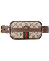 Gucci Ophidia GG Supreme Belt Bag - Brown