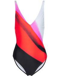 Dries Van Noten Printed Swimsuit - Red