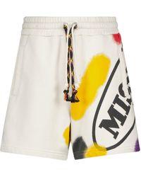 Palm Angels X Missoni shorts de algodón ajustables - Amarillo