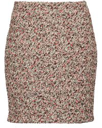 Bottega Veneta Bouclé Miniskirt - Brown