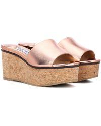 Jimmy Choo - Deedee 80 Platform Sandals - Lyst