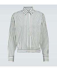 Lanvin Striped Cotton Shirt - White