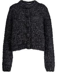 Dolce & Gabbana Wool-blend Cardigan - Black