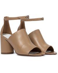 Maison Margiela - Tabi Leather Sandals - Lyst