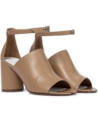 Maison Margiela Tabi Leather Sandals - Natural