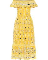 Juliet Dunn Exclusive To Mytheresa – Embellished Cotton Dress - Yellow