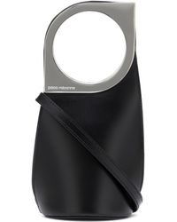 Paco Rabanne Op'art Small Leather Tote - Black