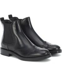 Tod's Chelsea Boots aus Leder - Schwarz