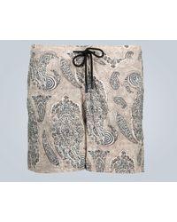 Etro Badeshorts mit Paisley-Print - Natur