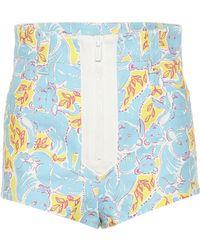 Miu Miu Pantalones cortos estampados - Azul