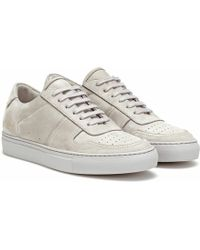 Common Projects Baskets BBall Low en daim - Gris