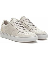 Common Projects Sneakers BBall Low aus Veloursleder - Grau