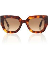 Victoria Beckham Wide Flat Square Sunglasses - Brown