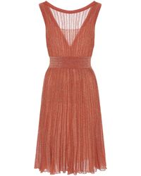Missoni Metallic-knit Dress - Orange