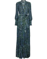 Veronica Beard Maidens Printed Maxi Dress - Blue