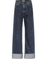 Helmut Lang High-Rise Straight Jeans Dark Femme Hi - Blau