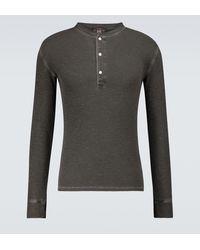 RRL T-shirt Henley en coton - Noir