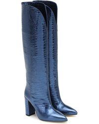 Paris Texas Stiefel aus Metallic-Leder - Blau