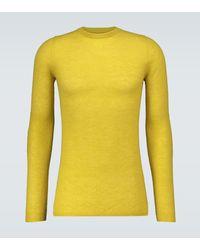 Rick Owens Pullover aus einem Mohairgemisch - Gelb