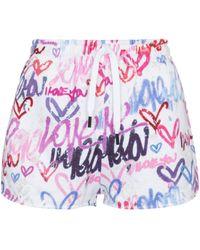 Isabel Marant Shorts Mifikia de punto fino - Multicolor