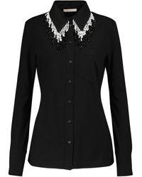 Christopher Kane Embellished Cotton Shirt - Black