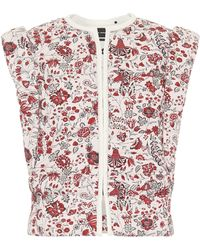 Isabel Marant Adiena Floral Cotton Vest - Red